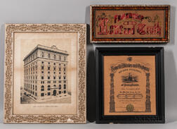 Three Framed Odd Fellows Items