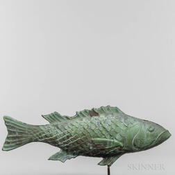 Molded Sheet Copper Fish Weathervane