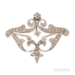 White Gold and Diamond Pendant/Brooch