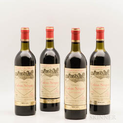 Chateau Calon Segur 1981, 4 bottles