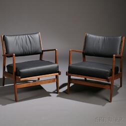 Two Jens Risom Lounge Chairs