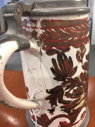 Five German Tin-glazed Earthenware Steins