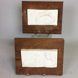 Two George Aarons Plaster Plaques