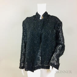 Comme des Garcons Black Sequined Shirt and Jacket