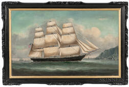 Chinese School, c. 1860-70      United States Clipper Ship off Hong Kong