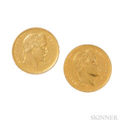 French Gold Coin Cuff Buttons
