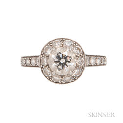 "Platinum and Diamond ""Icone"" Ring, Van Cleef & Arpels"