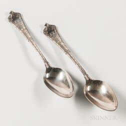 "Two Tiffany & Co. ""Persian"" Pattern Sterling Silver Tablespoons"