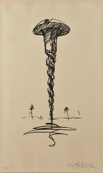 Claes Oldenburg (American, b. 1929)      Colossal Screw in Landscape-Type I