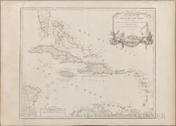 Two 18th Century Maps: West Indies and Persia.