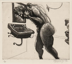 William Kentridge (South African, b. 1955)      Plate    from the Series Domestic Scenes