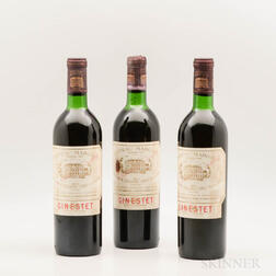 Chateau Margaux 1971, 3 bottles