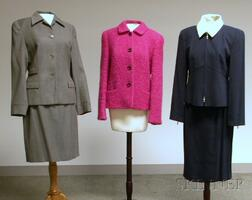 Two Women's Designer Suits and a Jacket, Louis Feraud and Armani