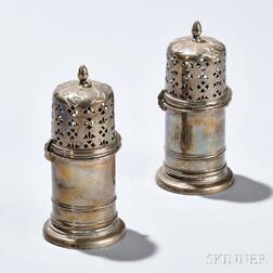 Two English Sterling Silver Casters
