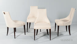 Four Thomas Pheasant Shell Side Chairs