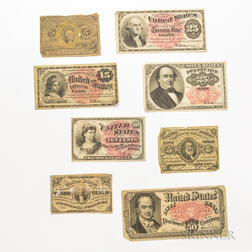 Eight Pieces of Fractional Currency
