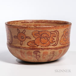 Mayan Polychrome Pottery Bowl