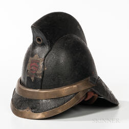 Leather Fireman's Helmet