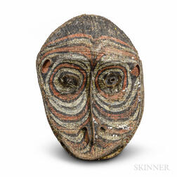 Large Painted and Woven New Guinea Mask