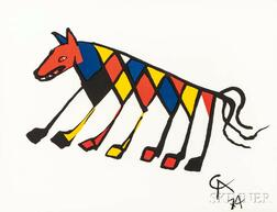 Alexander Calder (American, 1898-1976)      Five Plates from the Suite Flying Colors  :   Beastie ,  Skybird ,  Friendship ,  Skyswirl