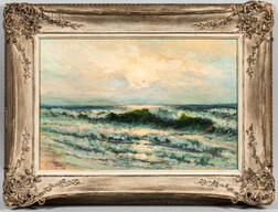 Manuel Valencia (American, 1856-1935)      Surf and Sky.