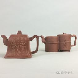 Two Yixing Teapots