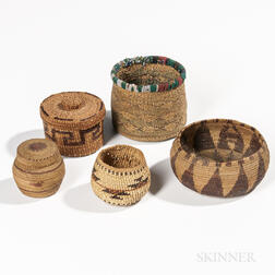 Five Indian Baskets