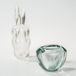 Yoshihiko Takahashi Contemplation Bowl   and Pods   Art Glass Sculptures