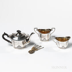 Edward VII Three-piece Sterling Silver Tea Service