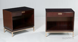 Two Thomas Pheasant Mondrian Bedside Tables
