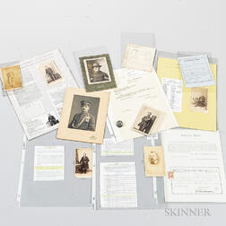 Group of Identified Carte-de-visite Images, Documents, and Cabinet Cards