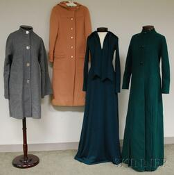 Three European Wool Coats