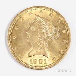 1901 $10 Liberty Head Gold Coin