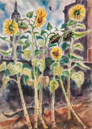 Bertram Hartman (American, 1882-1960)      Sunflowers
