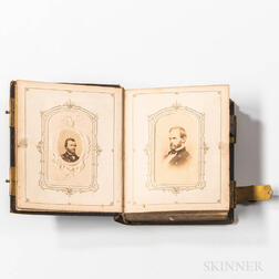 Carte-de-visite Album of Lincoln, Grant, and Other Figures