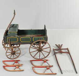 "Small Paint-decorated ""PEERLESS"" Wagon"