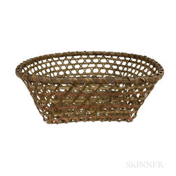 Small Painted Woven Splint Basket