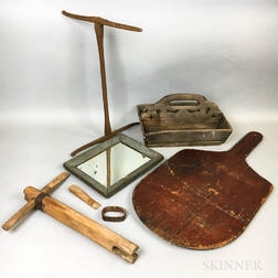 Small Group of Wood Domestic Items