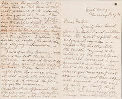 Blackwell, Elizabeth (1821-1910) Partial Autograph Letter, East Orange, 31 May [no year, 1866?].
