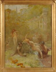 Anglo/American School, 19th/20th Century      The Bacchanal.