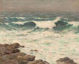 Francis Henry Richardson (American, 1859-1934)      Breaking Wave, Isles of Shoals