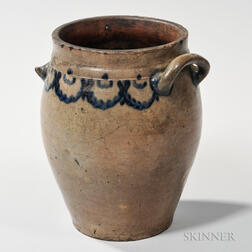 Early Cobalt-decorated Stoneware Jar