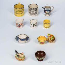 Eleven Ceramic Table Items
