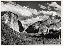Ansel Adams (American, 1902-1984)      Valley View, Yosemite National Park, California