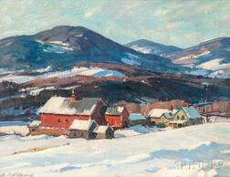 Aldro Thompson Hibbard (American, 1886-1972)      Farm in Winter