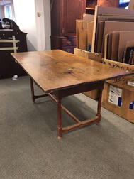 Large Tavern Table with Two Drawers