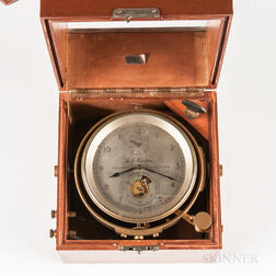 Thomas Mercer Eight-day Boxed Chronometer No. 621 and Certificate