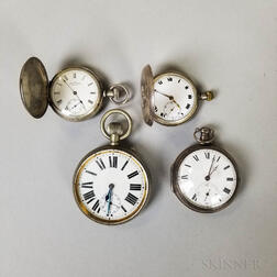 Four Early Pocket Watches