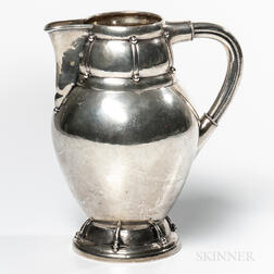 Danish Silver Pitcher