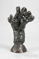 Auguste Rodin (French, 1840-1917)      Grande Main Crispée Gauche (Large Clenched Left Hand)